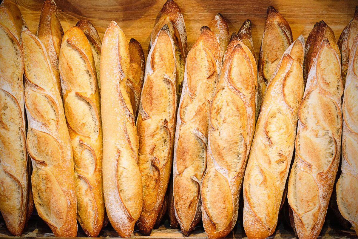 Fresh bakery French bread
