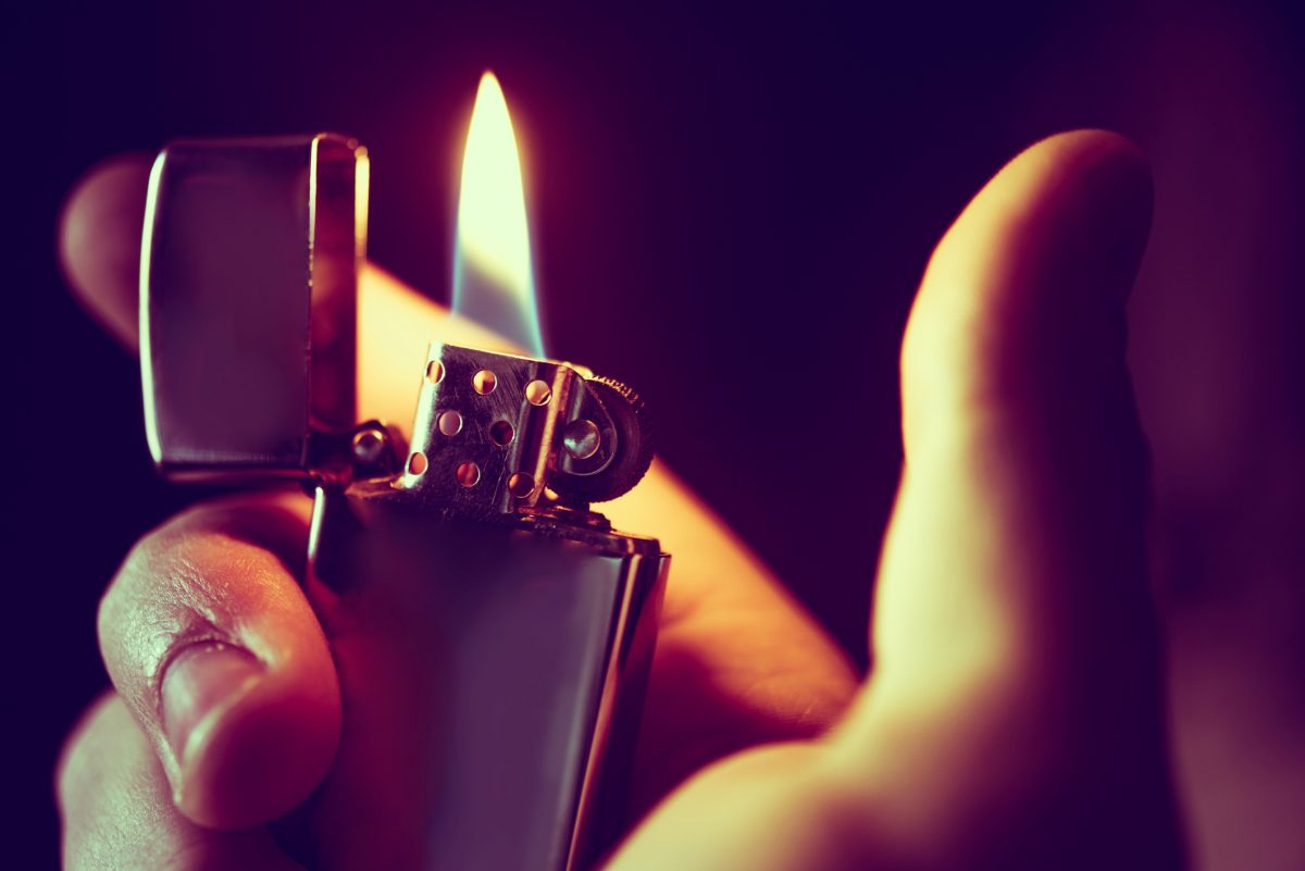 Use a standard lighter