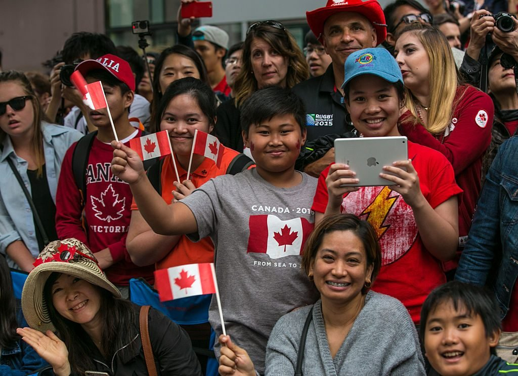 People celebrating Canada Day