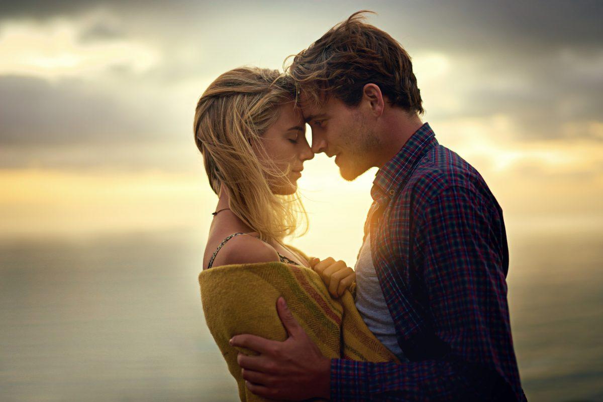 Romantic couple on beach