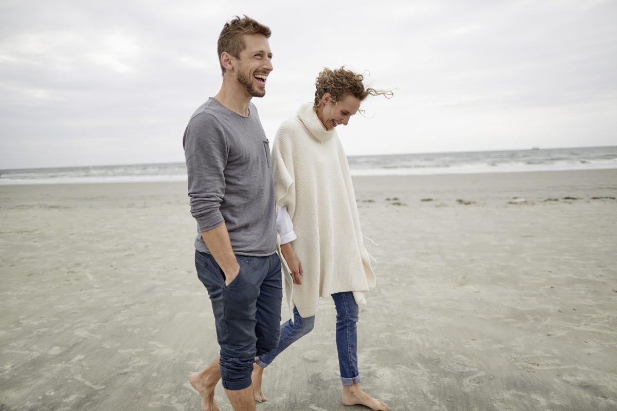 man, woman, beach, couple