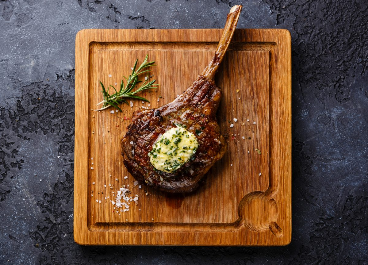 herbs and garlic butter steak