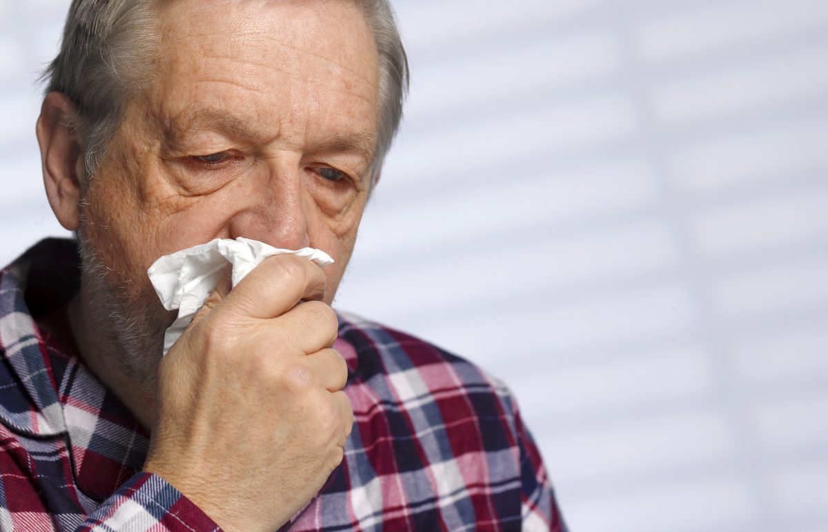 older man flu tissue
