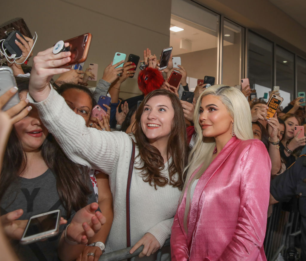 HOUSTON, TX - NOVEMBER 18: Kylie Jenner visits Houston Ulta Beauty to promote the exclusive launch of Kylie Cosmetics with the beauty retailer, starting this month on November 18, 2018 in Houston, Texas.