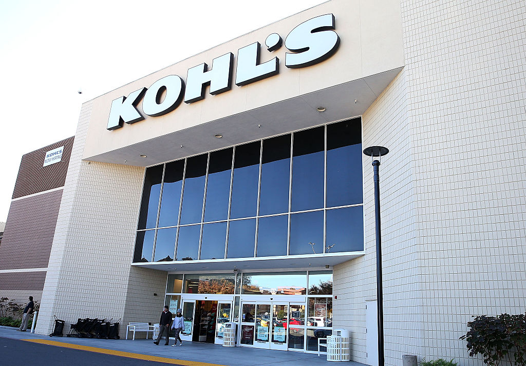 SAN RAFAEL, CA - NOVEMBER 12: Customers leave a Kohl's store on November 12, 2015 in San Rafael, California. Kohl's reported a better-than-expected third quarter earnings with a net income of $120 million, or 63 cents per share, compared to $142 million, or 70 cents per share, one year earlier.