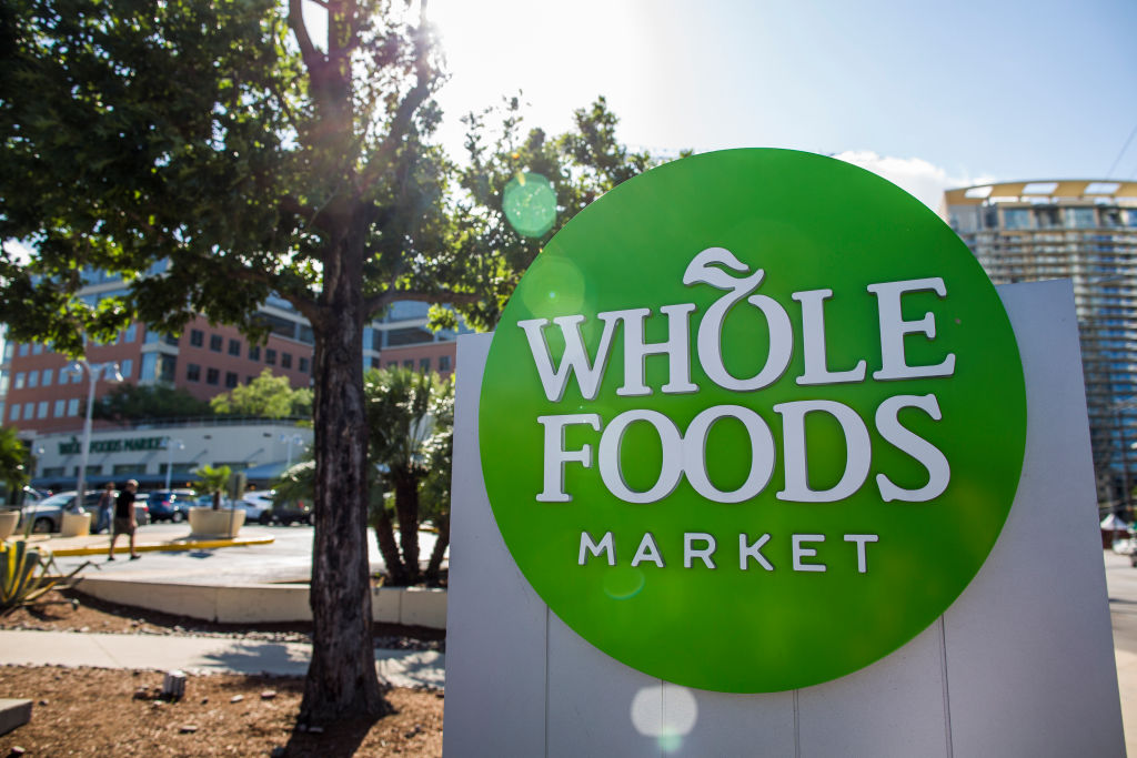 AUSTIN, TX - JUNE 16: Whole Food flagship store in Austin, Texas photographed June 16, 2017. Amazon announced that they purchased the grocer for over 13 billion dollars.