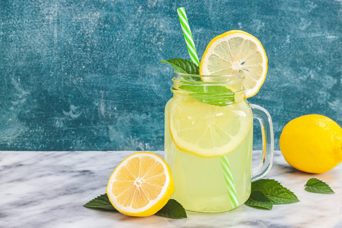 Lemonade in a mason jar