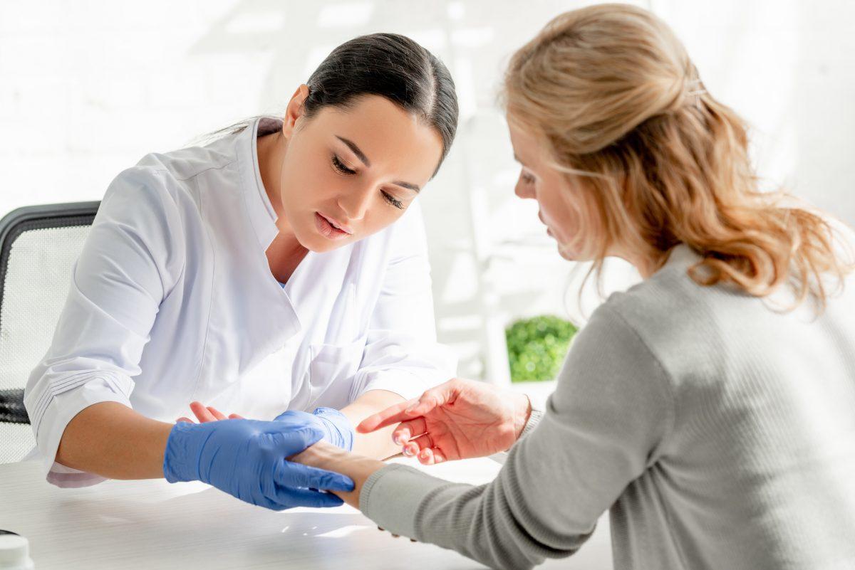 dermatologist exam skin