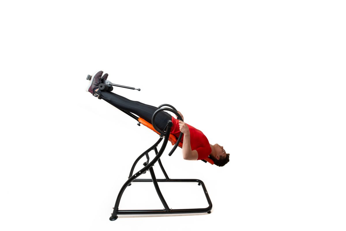 inversion table man
