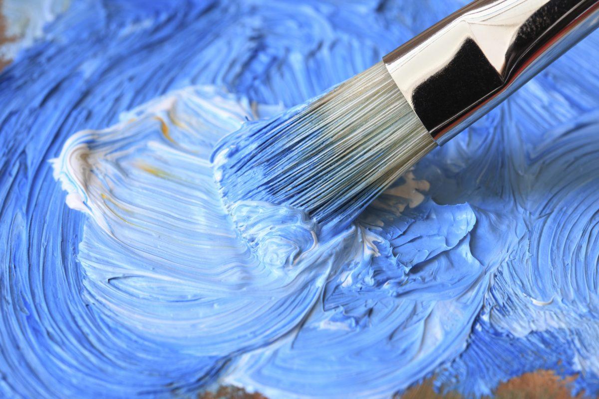 Mixing sky blue