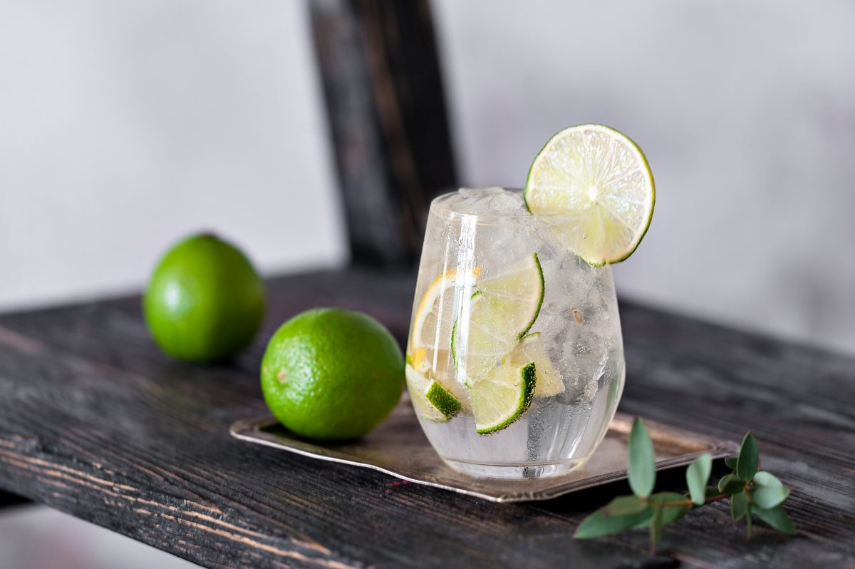 gin tonic lemon lime