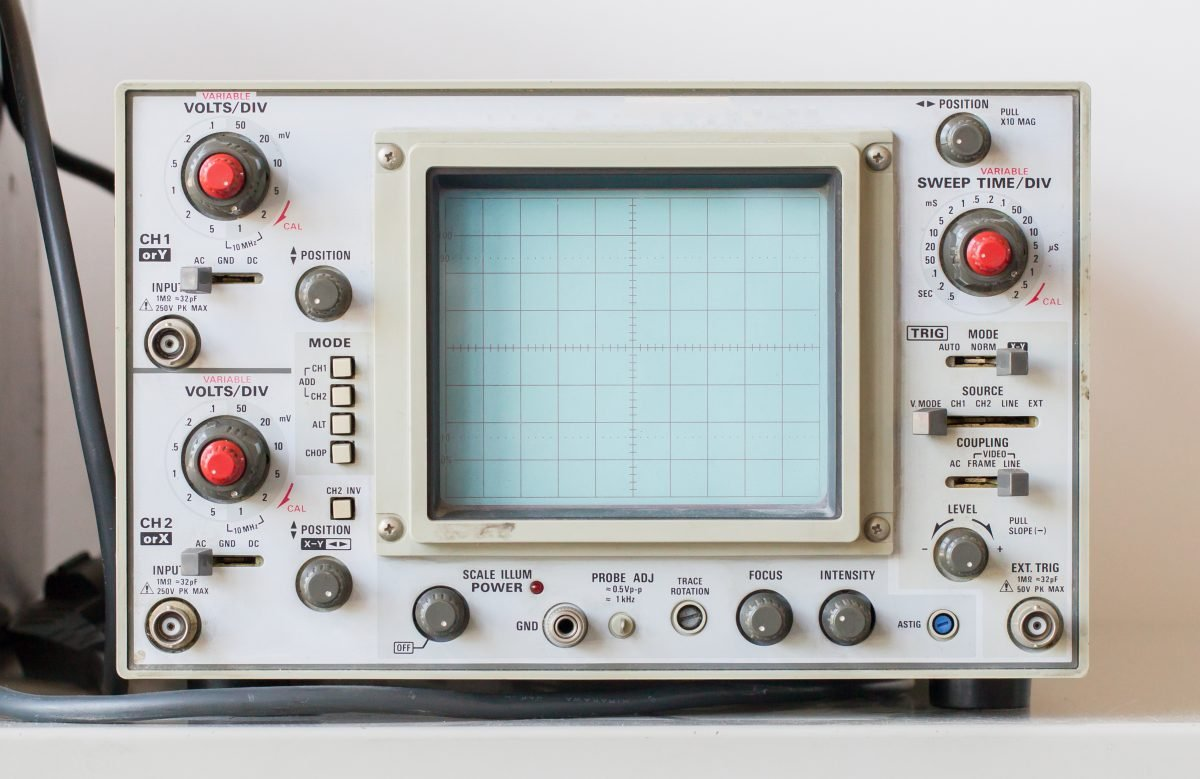 Tennis sports oscilloscope analog