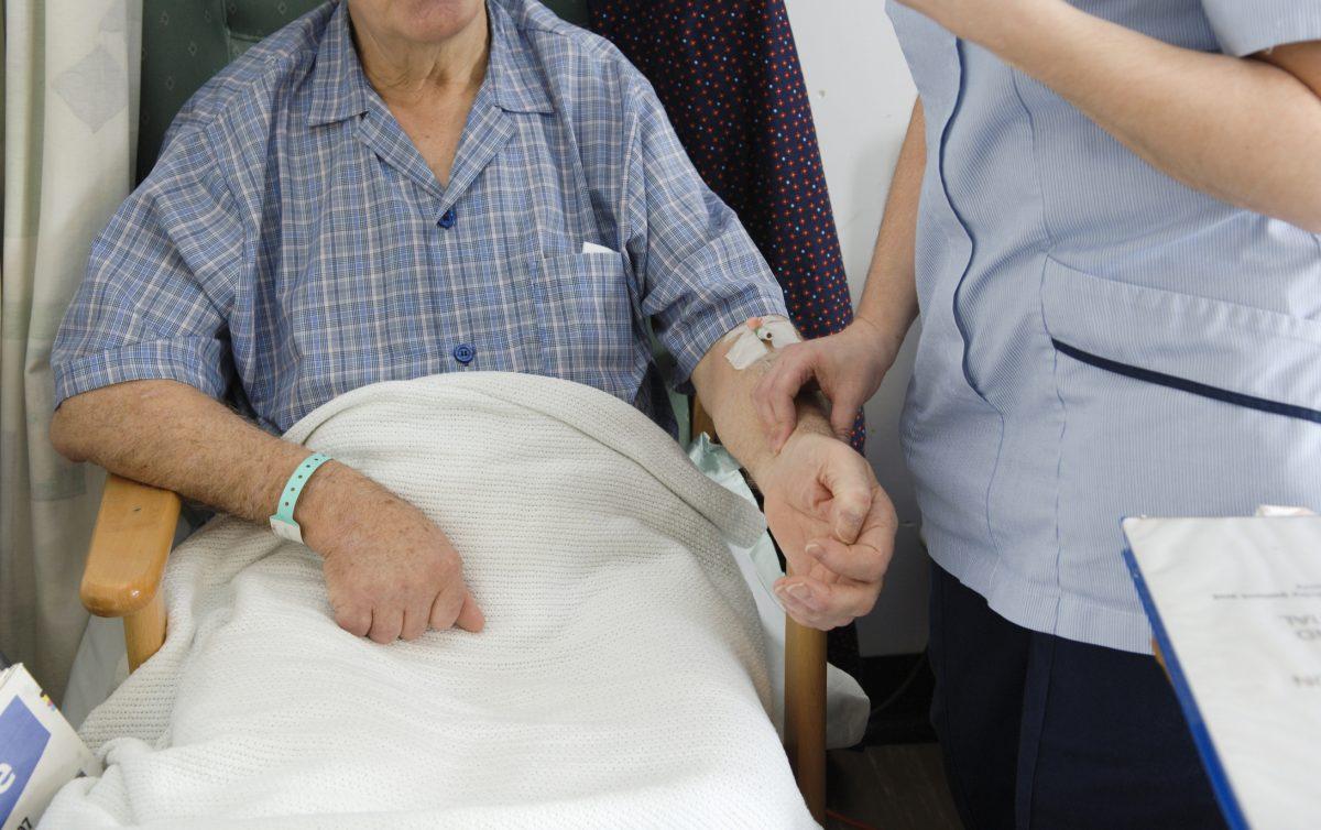 checking wrist pulse
