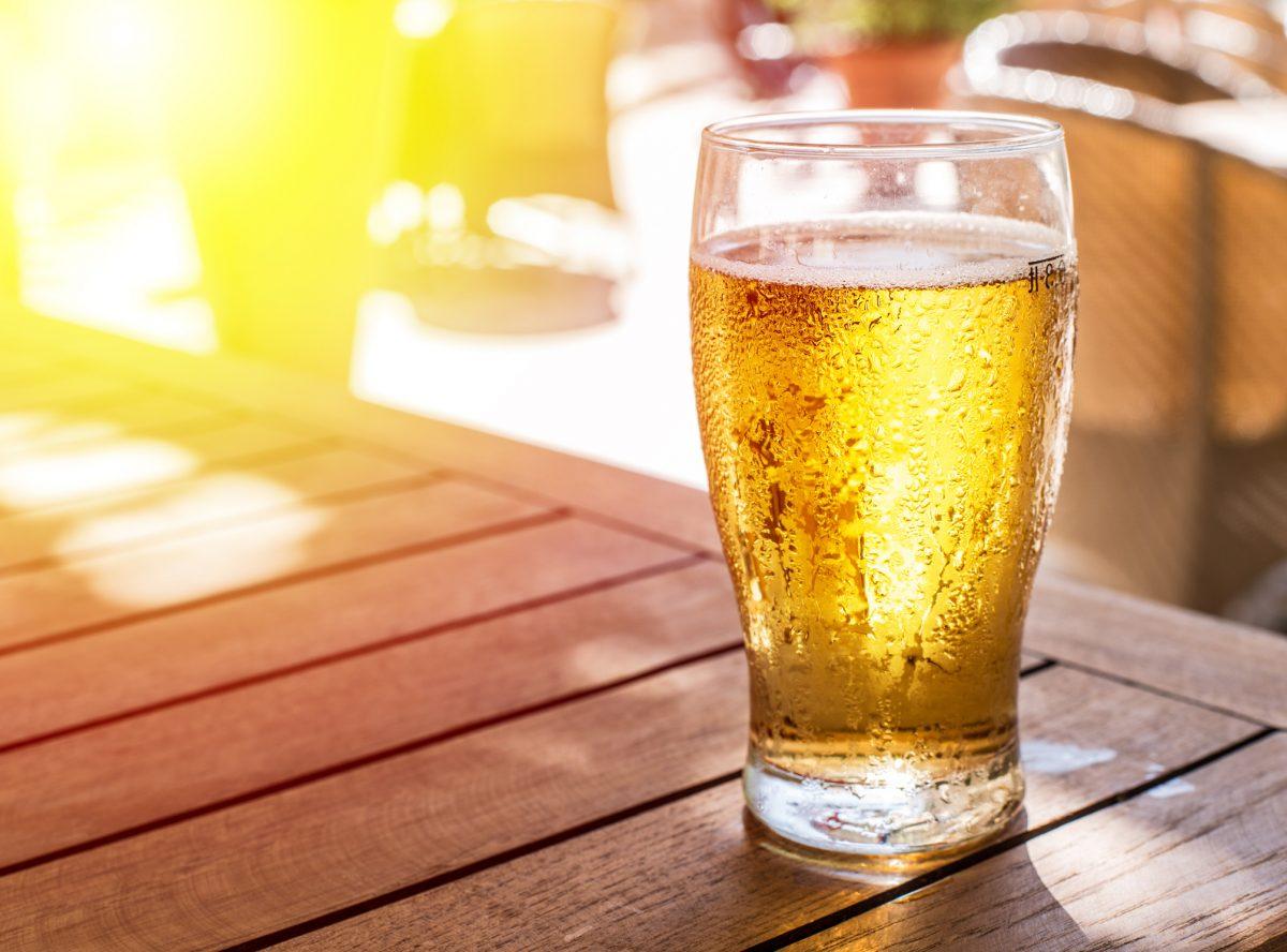 light beer sunlight