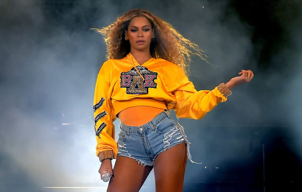 Beyoncé onstage at Coachella