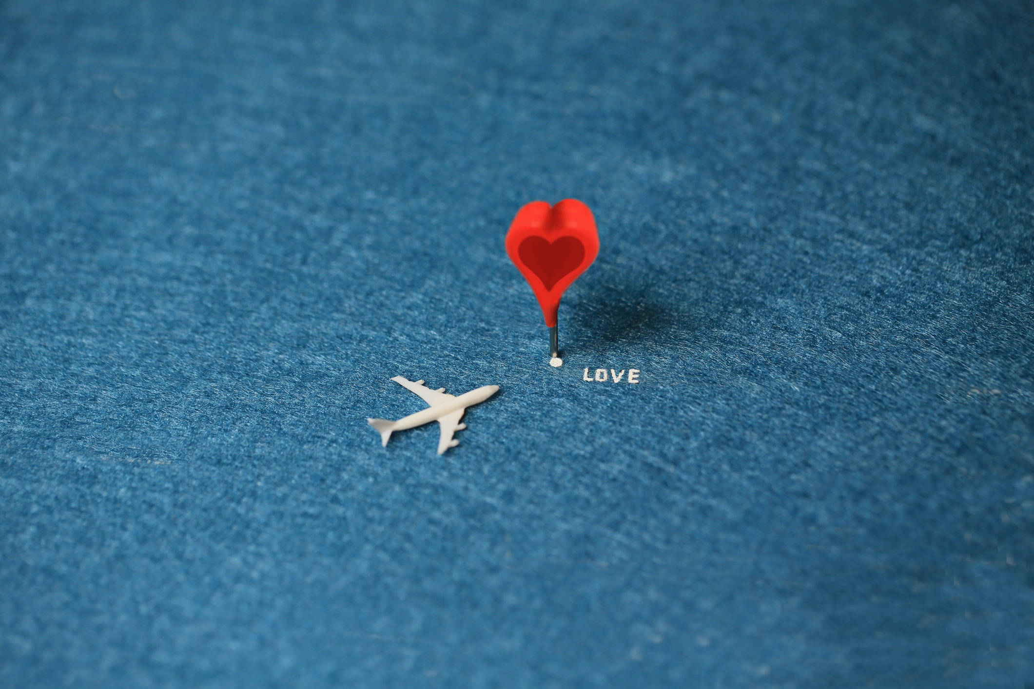 love is the destination to the plane