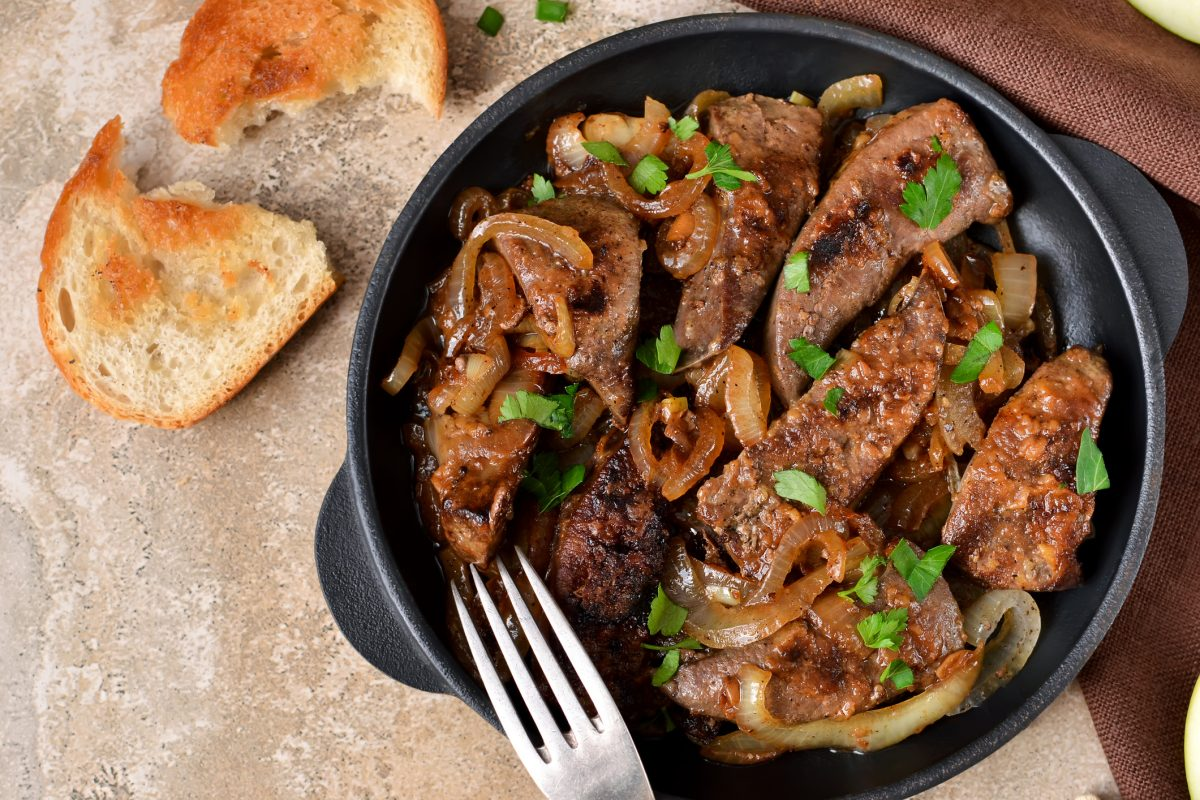 fried liver onions