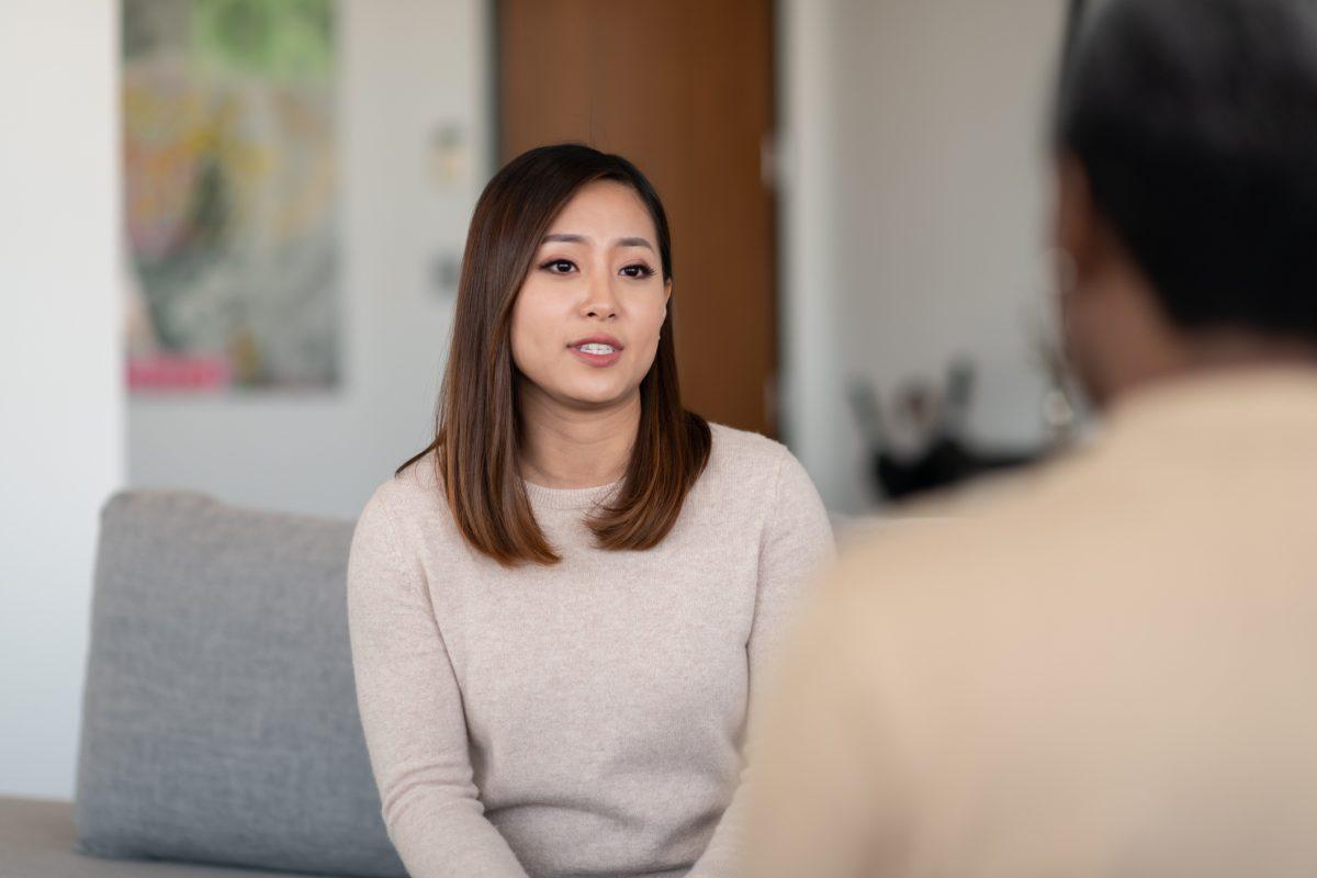 woman therapy denial