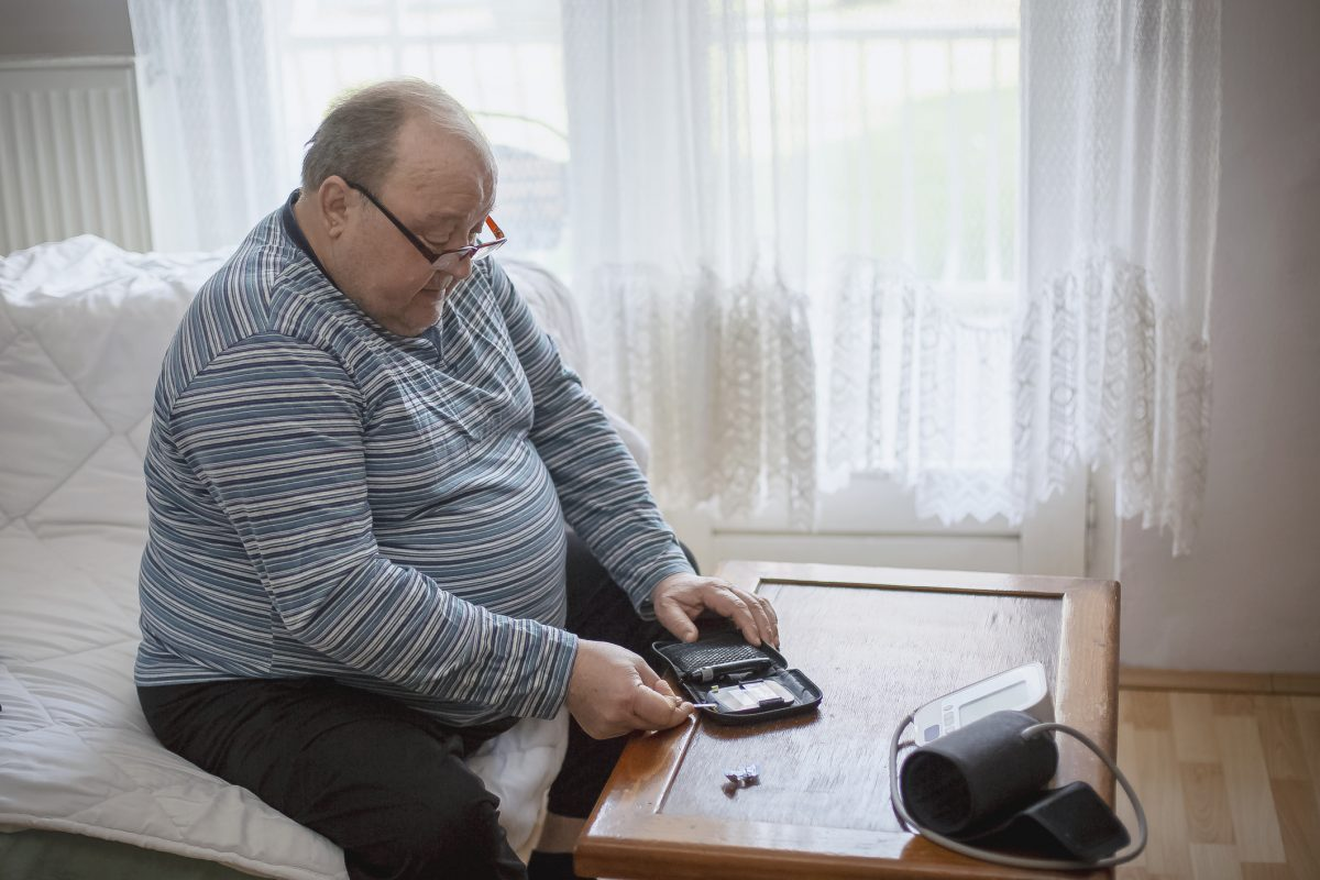 obese man blood sugar