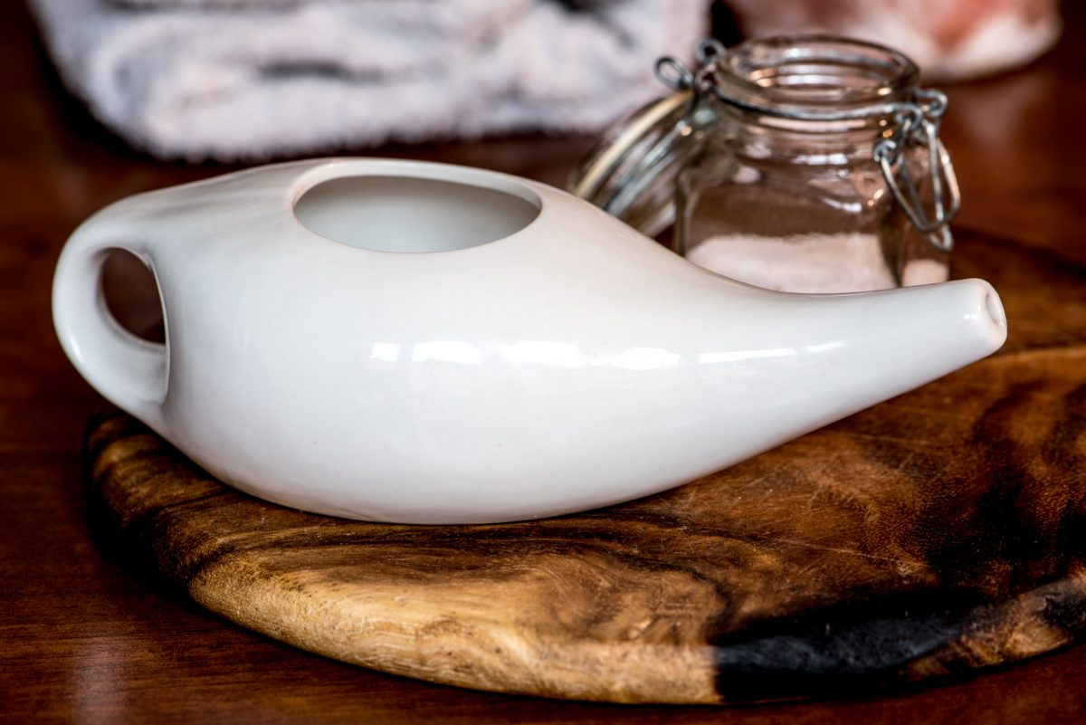 neti pot, distilled, sterile, contaminants