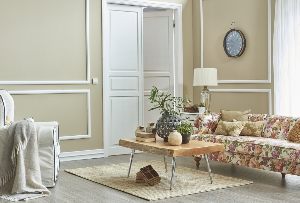 living room classic decoration frame wall retro concept