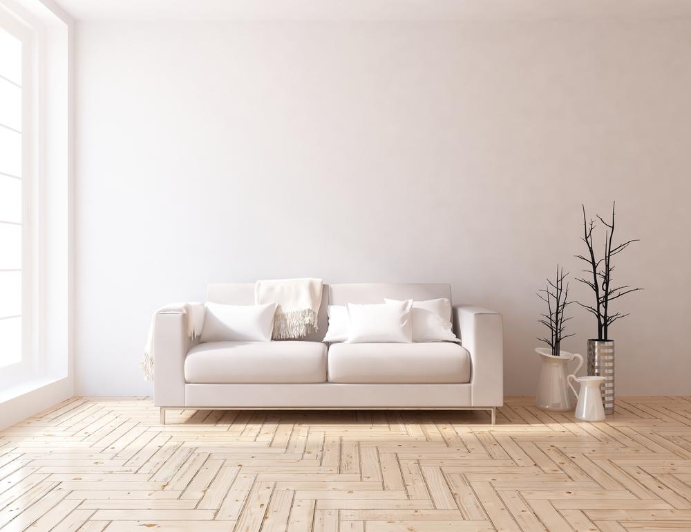 White room interior. Scandinavian interior design.