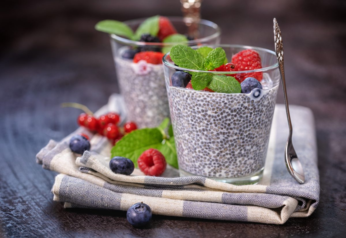 Add chia seeds to your smoothie for a breakfast treat.