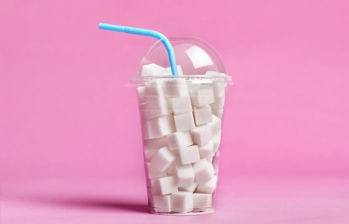 sugar cubes in a cup