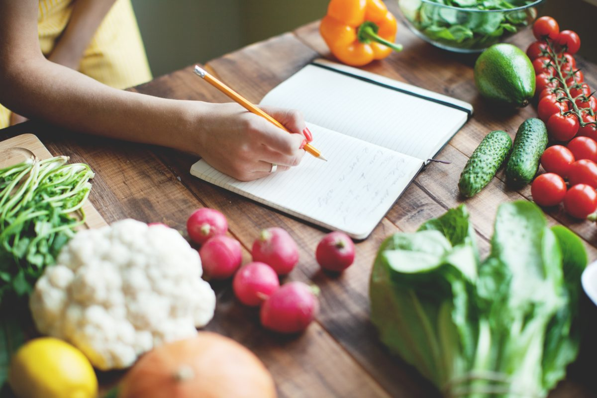 Plant-based diet food journal