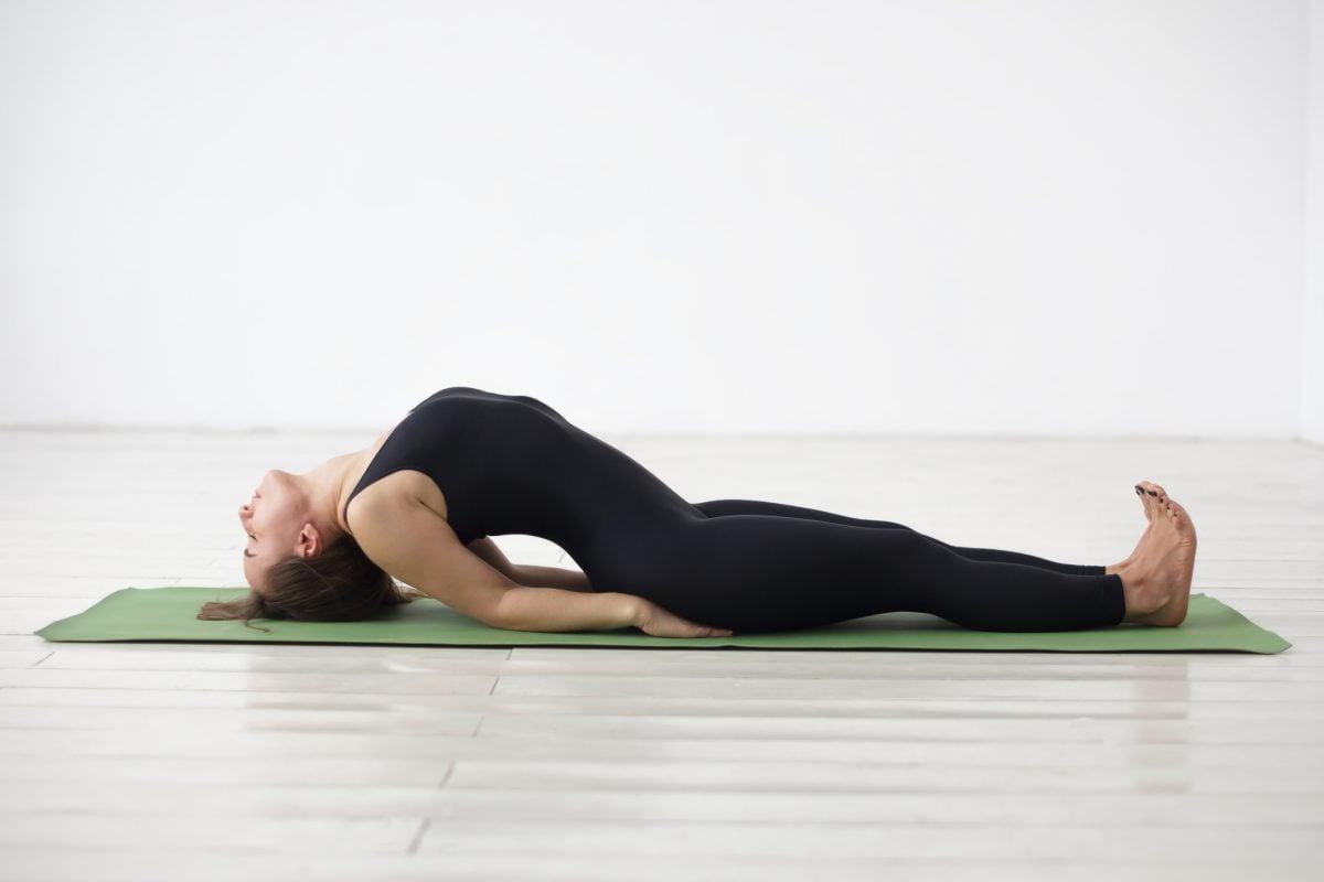 yoga fish pose