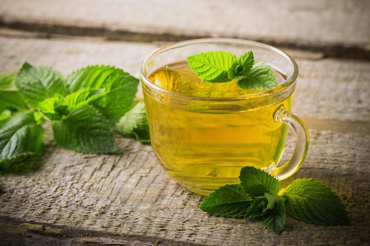 tea on wooden background