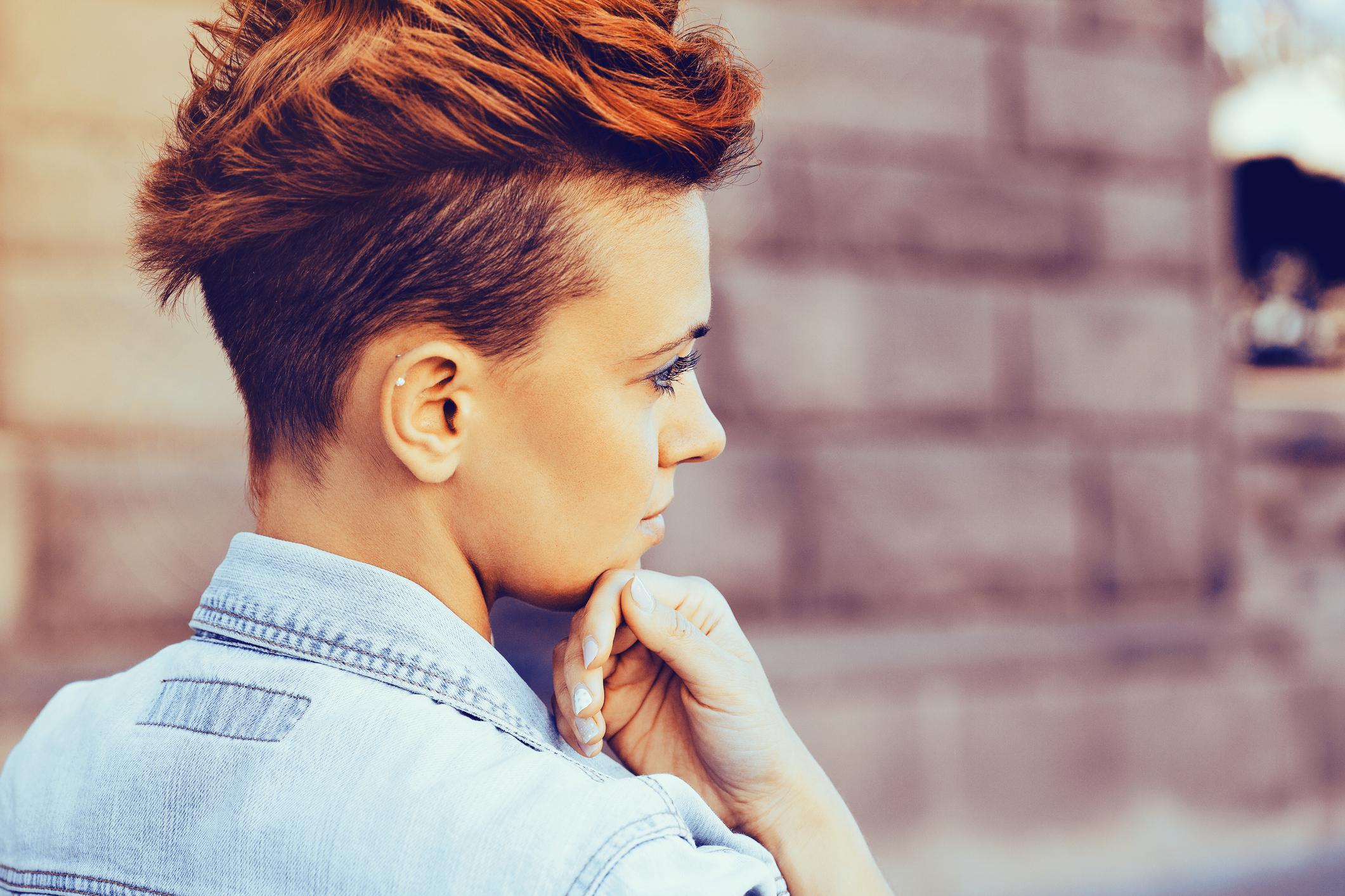 Portrait of a punk woman
