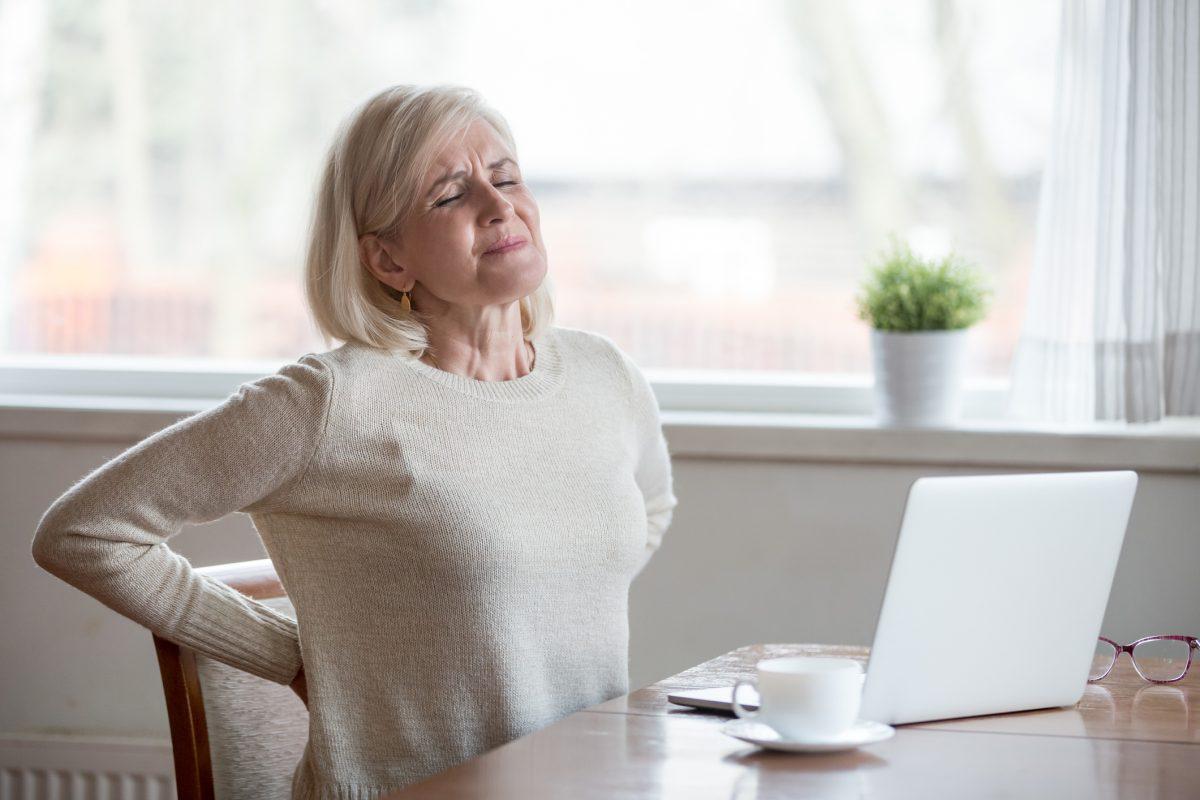 older woman back pain
