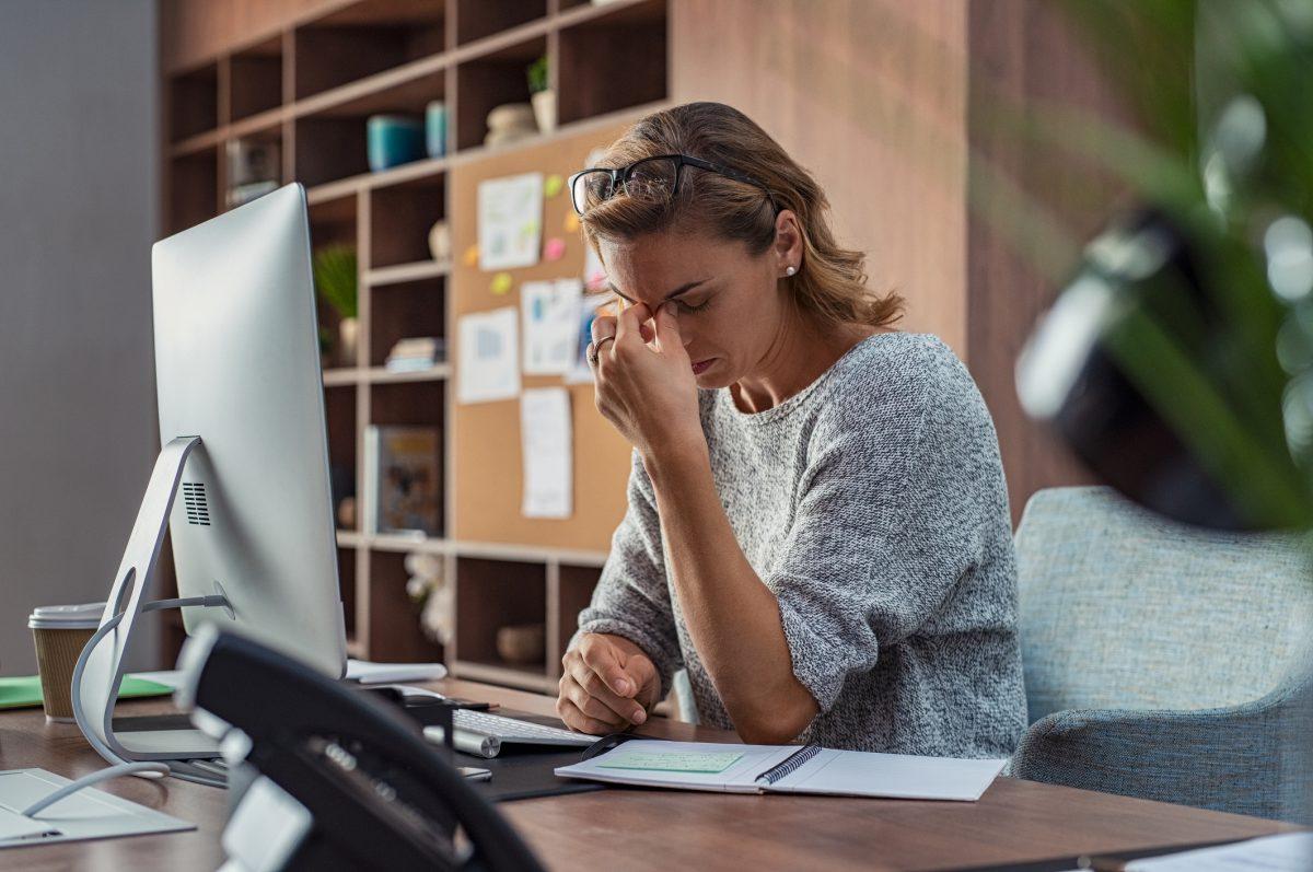 woman stress anxiety