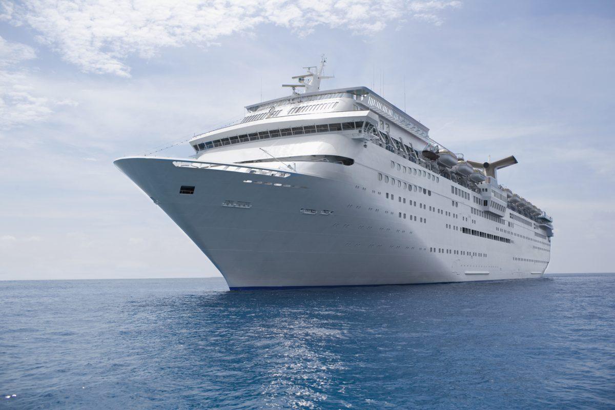 Large cruise ship on water