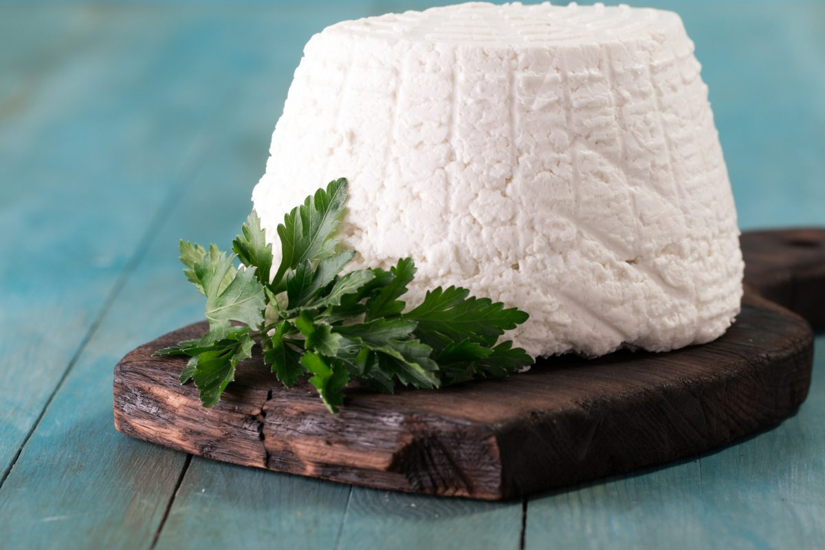 Ricotta cheese is a healthy addition to the diet.