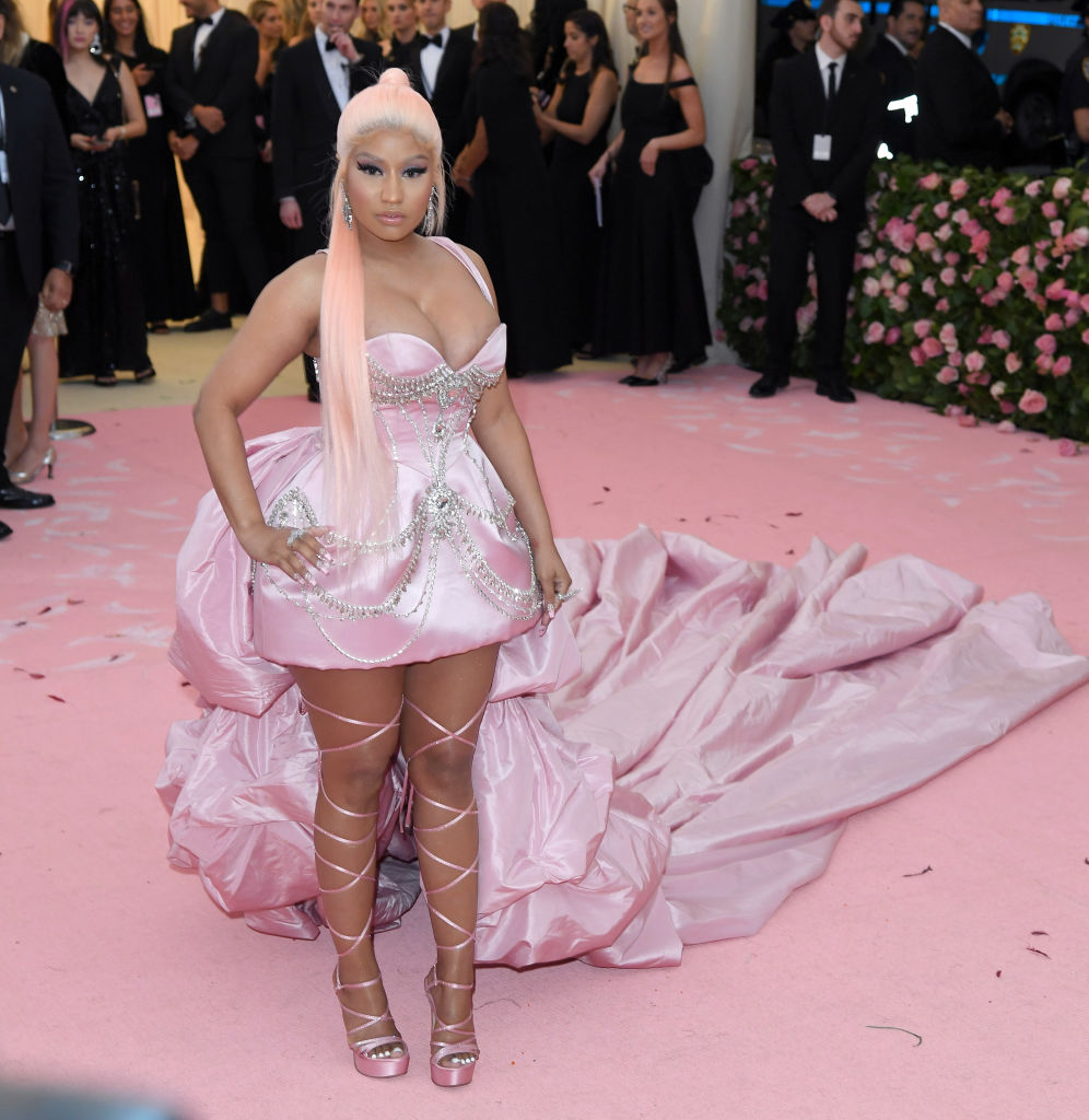 NEW YORK, NEW YORK - MAY 06: Nicki Minaj arrives for the 2019 Met Gala celebrating Camp: Notes on Fashion at The Metropolitan Museum of Art on May 06, 2019 in New York City. (Photo by Karwai Tang/Getty Images)
