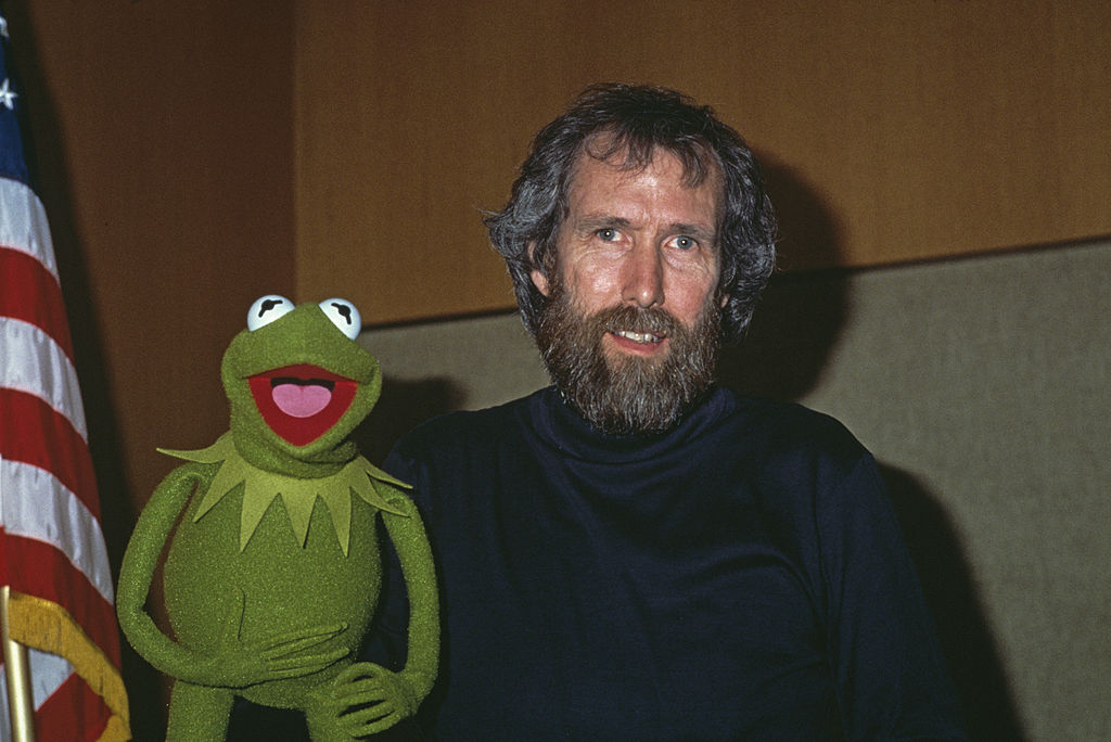 American puppeteer and filmmaker Jim Henson (1936 - 1990) with his best-known Muppet character, Kermit the Frog, January 1984. (Photo by Frank Edwards/Fotos International/Archive Photos/Getty Images)