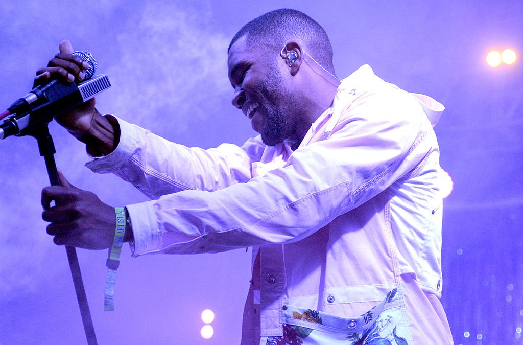 MANCHESTER, TN - JUNE 14: Frank Ocean during the performs during the 2014 Bonnaroo Music & Arts Festival on June 14, 2014 in Manchester, Tennessee. (Photo by Tim Mosenfelder/Getty Images)