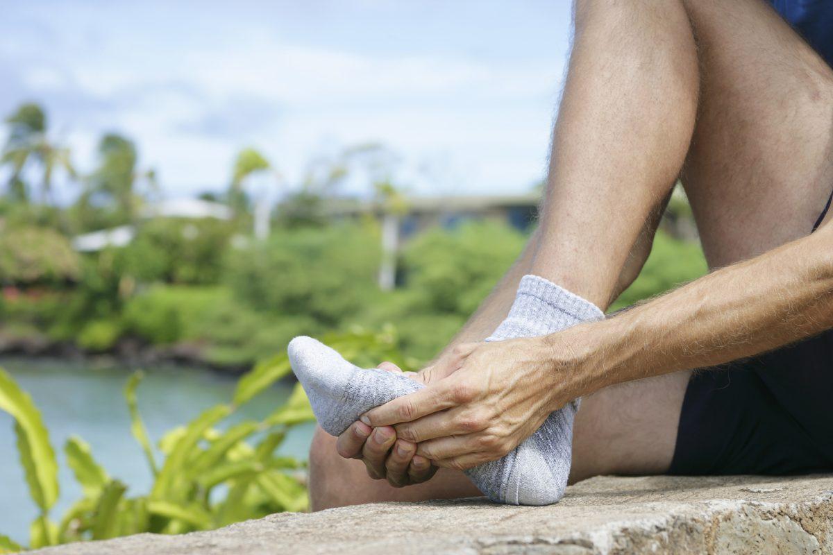 rubbing ball foot gout