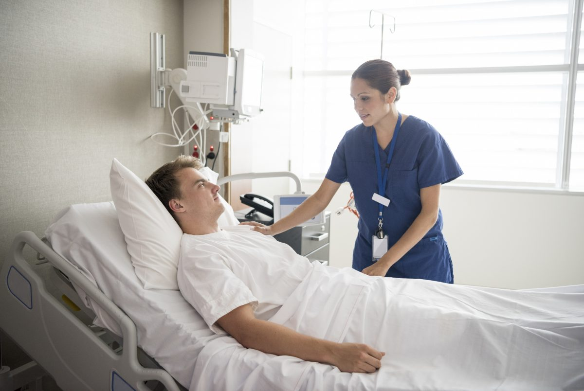 nurse patient bed position