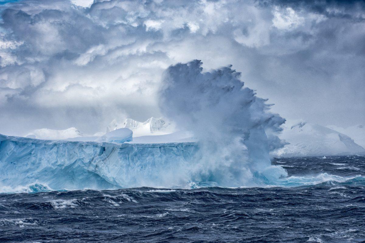 antarctic storm iceberg