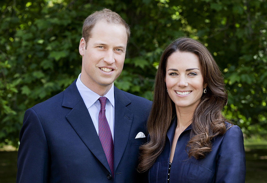 In this handout image supplied by St James's Palace, Prince William, Duke of Cambridge and Catherine, Duchess of Cambridge pose for the official tour portrait for their trip to Canada and California in the Garden's of Clarence House on June 3, 2011 in London. England. The newly married Royal Couple will be undertaking their first official joint tour to Canada and California from June 30th. The trip will begin with Canada Celebrations in Ottawa and include highlights such as the Calgary Stampede and a visit to Yellowknife.