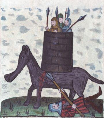 Eleazar Maccabeus illustration, Speculum Humanae Salvationis