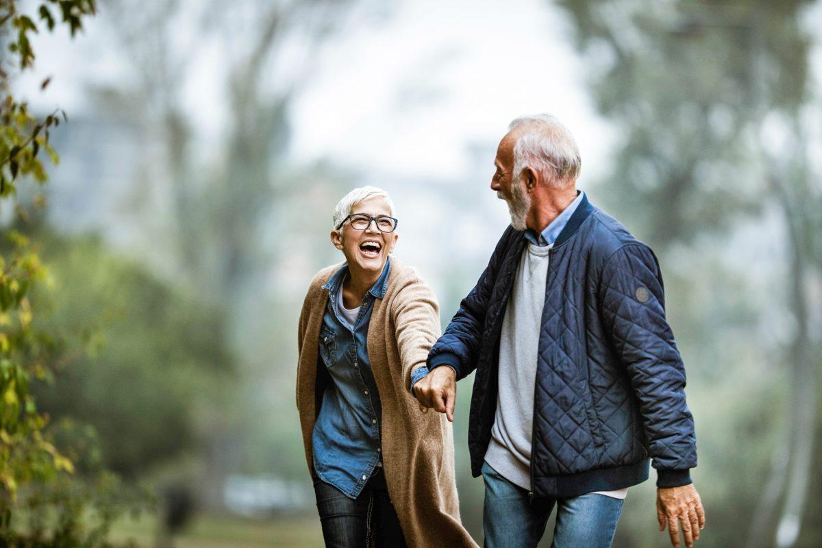 happy healthy older couple