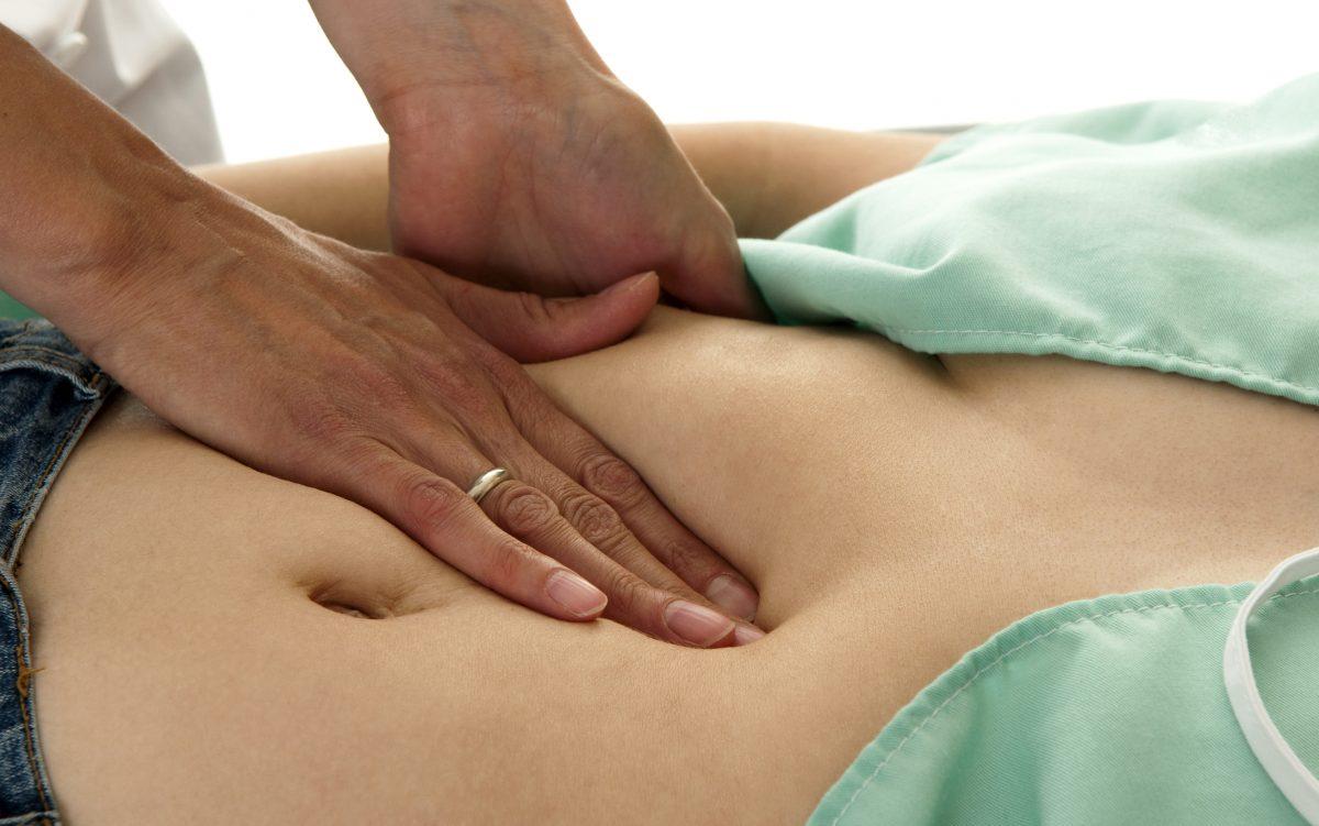 Doctor explaining ultrasound results.