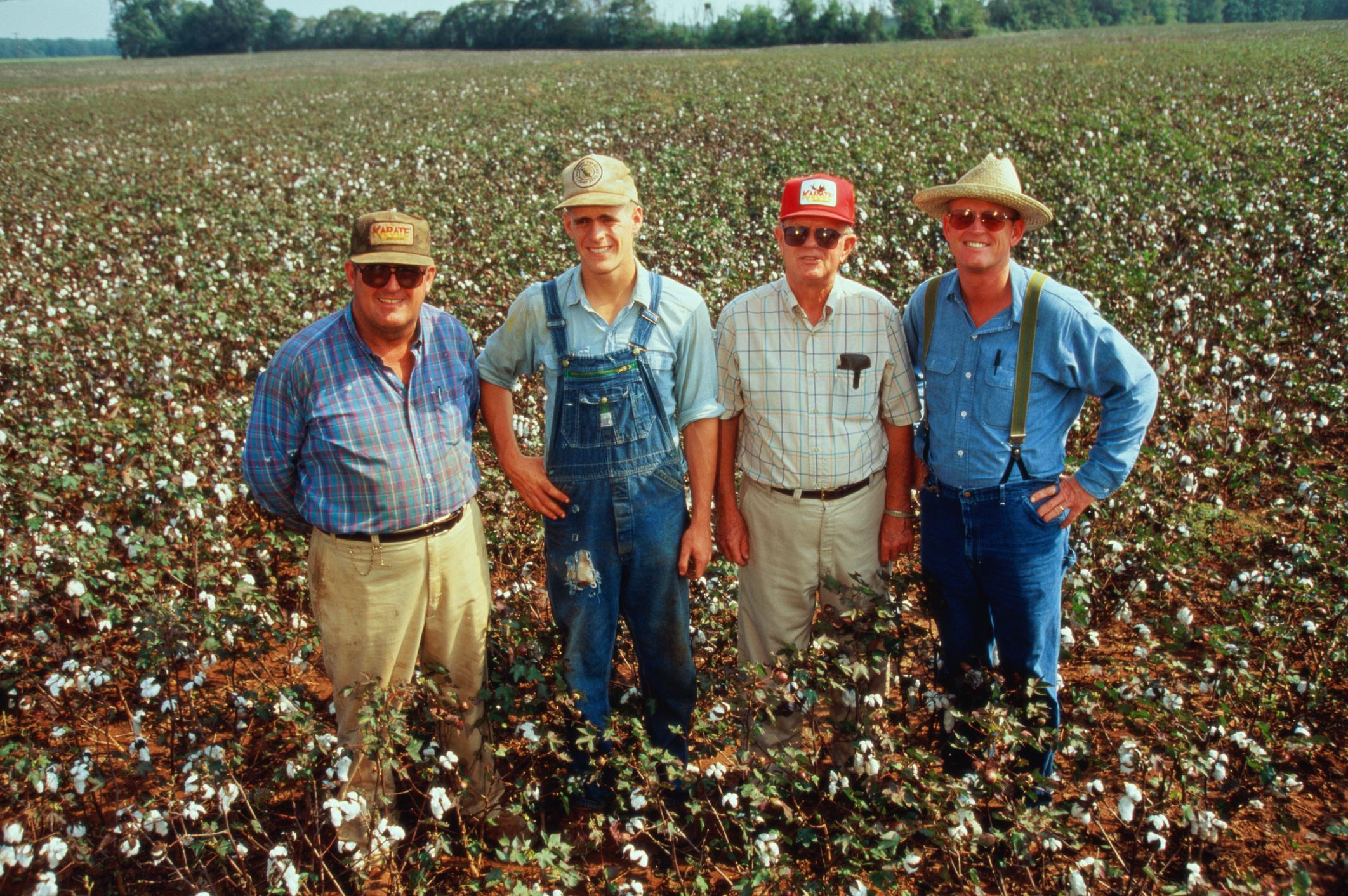 USA, Alabama, three generation family of cotton farmers