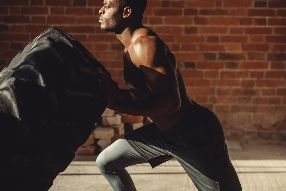 CrossFit and bodybuilding concept