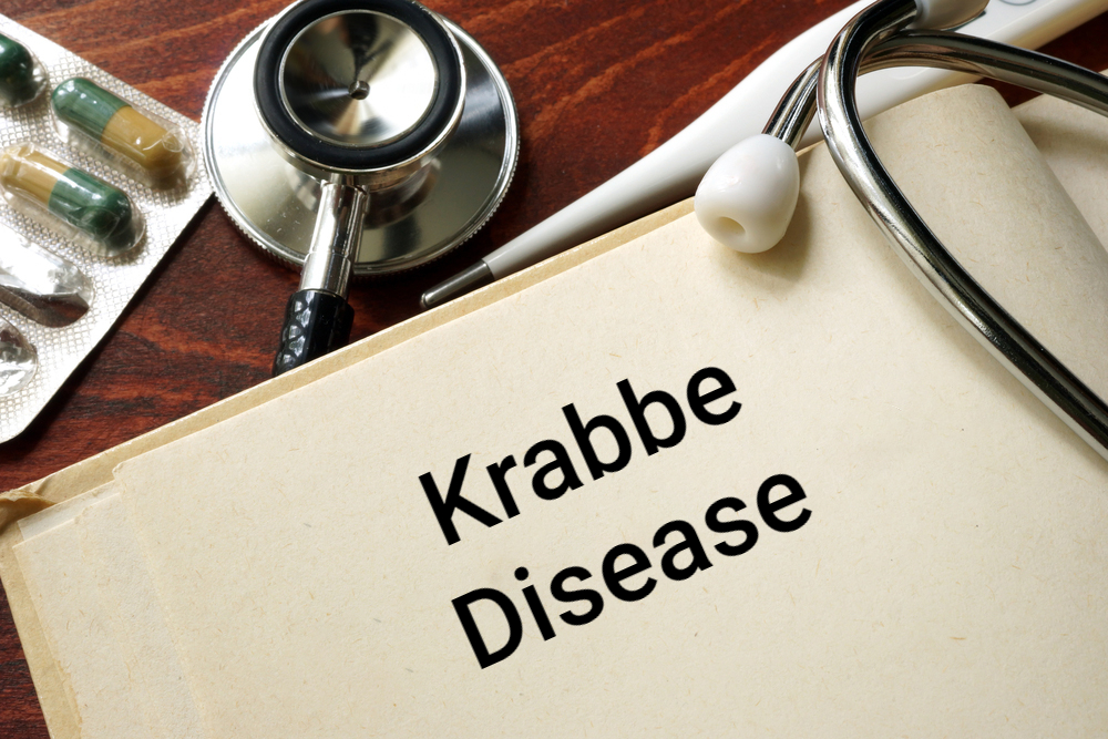 """medical concept image """"krabbe disease"""" on doctor's note pad"""