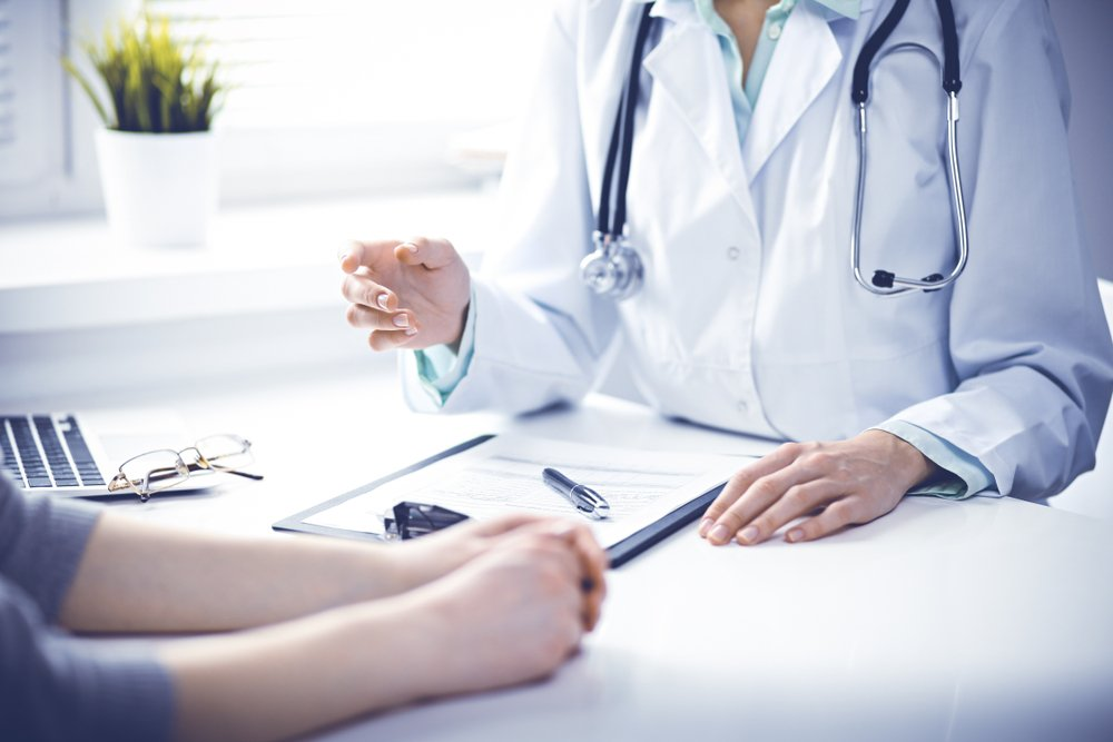 women having a doctor's appointment